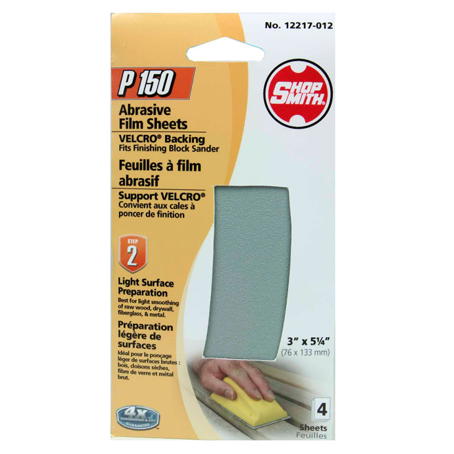 Sanding Film Sheets - Light Preparation - 150 Grit -4-Pack