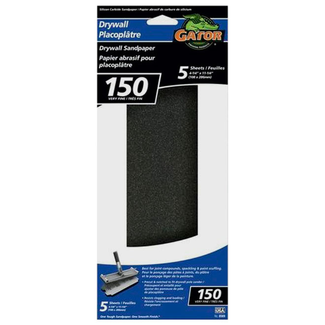 Drywall Sanding Sheets - 150 Grit - 5-Pack