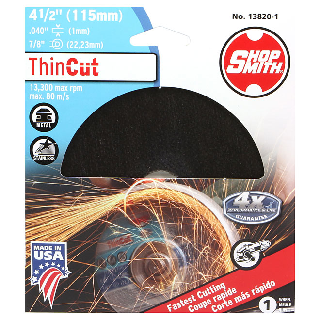 Metal Cutting Wheel - ThinCut - 4 1/2""