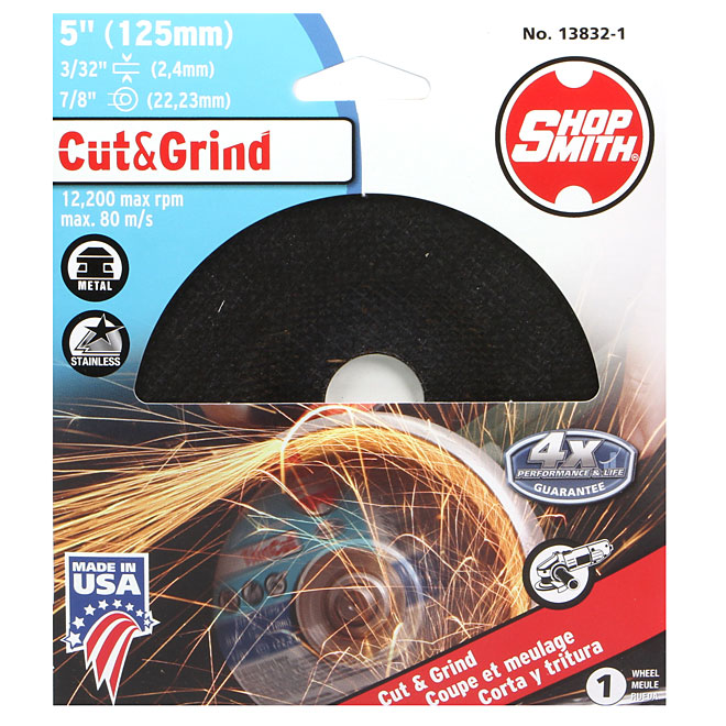 Metal Cutting Wheel - Cut&Grind - 5""