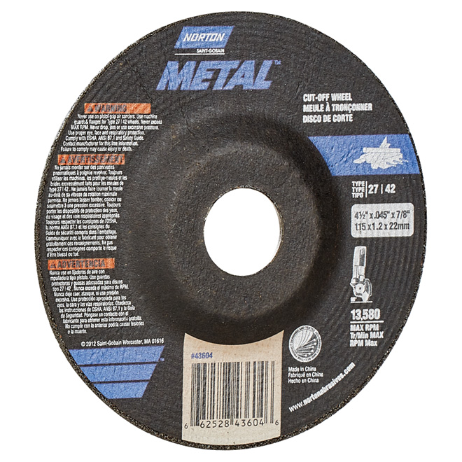 Metal Cut-Off Blade - 4 1/2""