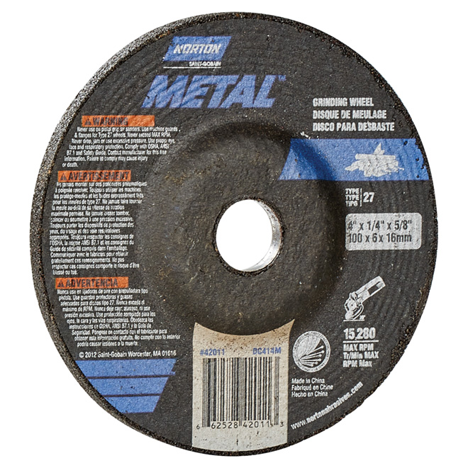 Metal Depressed Centre Grinding Wheel - 4""