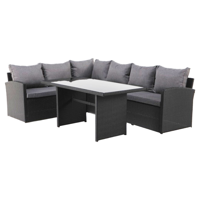 ensemble diner modulaire en osier pour patio 3 pi ces rona. Black Bedroom Furniture Sets. Home Design Ideas