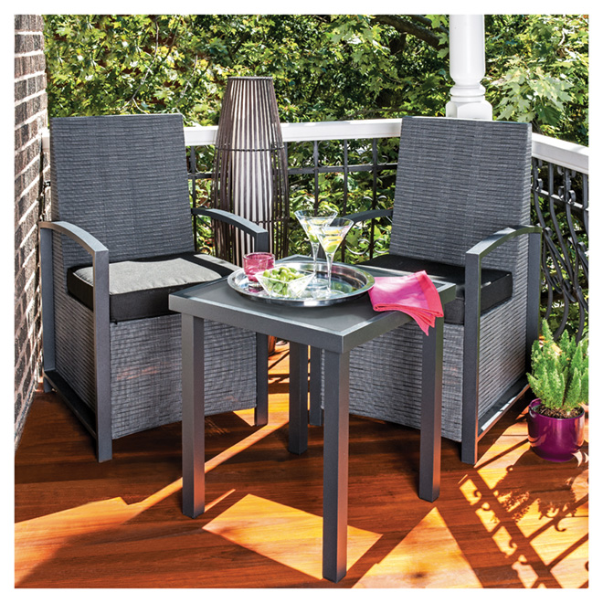 """Soho"" Bistro Set - Black - 3 Pieces"