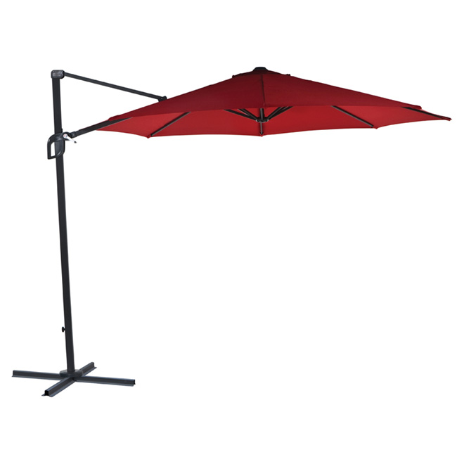 parasol excentr pour patio pamplona 118 po rouge rona. Black Bedroom Furniture Sets. Home Design Ideas