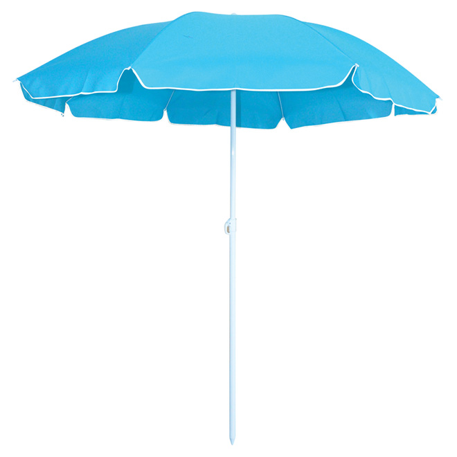 "Beach Umbrella - 63"" x 71"" - Aqua"