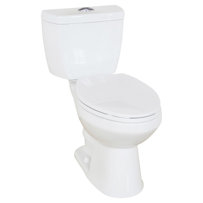 Elongated Front 2-Piece Toilet, Evalin, 4 L/6 L, White