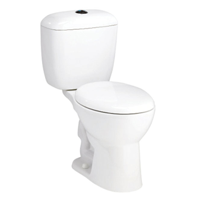 Elongated Front 2-Piece Toilet, 4 L/6 L, White