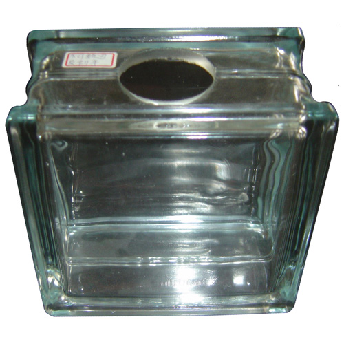 """Hole"" Glass block"