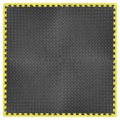 Foam Mat - Anti-fatigue - Grey and Yellow - 4 Pack