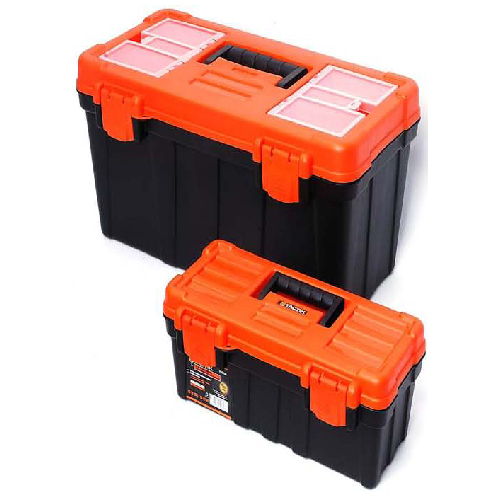 boxes made of plastic black and orange tactix tool boxes 79285002