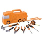 Storage Case and Tools for Kids - 10 pieces