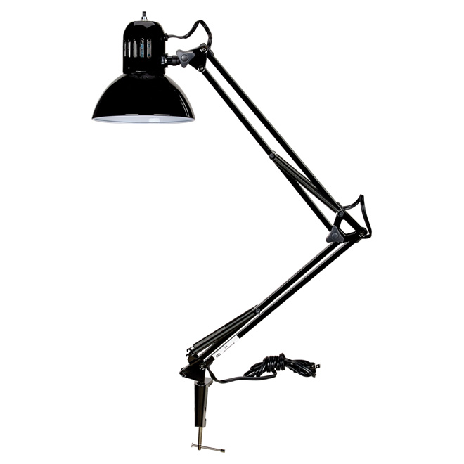 "Tensor Swing Arm Desk Lamp with Clamp- 37.5"" - Black"