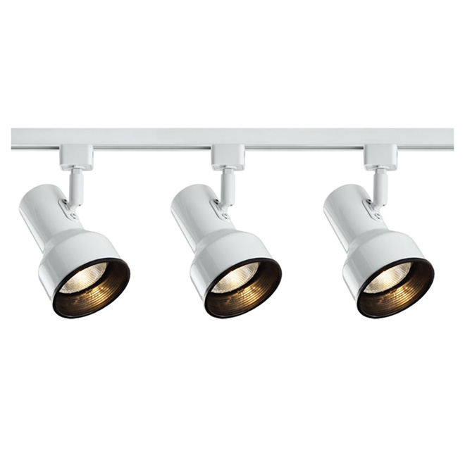 3-Light Step Linear Track Lighting Kit - White
