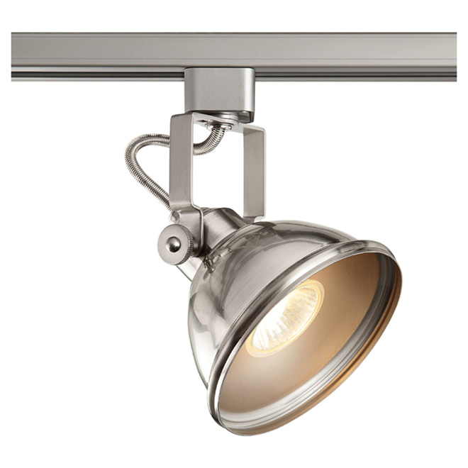 Linear Track Lighting Head - Satin Nickel