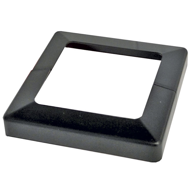 "Plakcap Cover Base 4 x 4"" - Black"