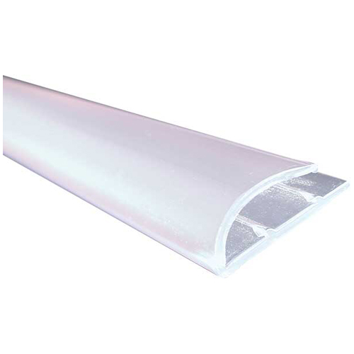 """J-Style"" PVC Carpet Moulding 36"" - Transparent"