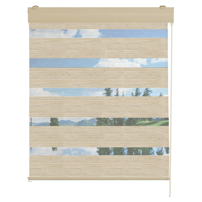 "Roll-Up Blind - 48"" x 72 "" - Linen"