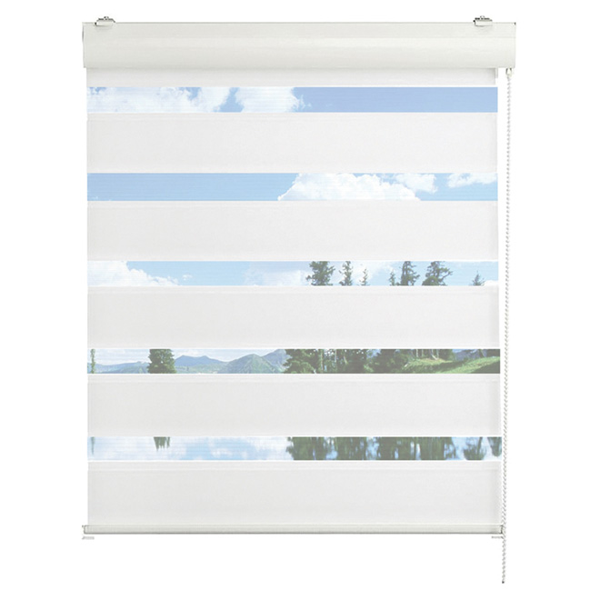 "Roll-Up Blind - 30"" x 48"" - White"