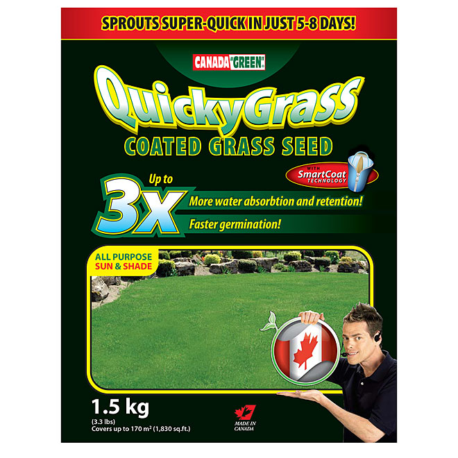 """Quicky Grass"" Coated Grass Seed - 1.5 KG"