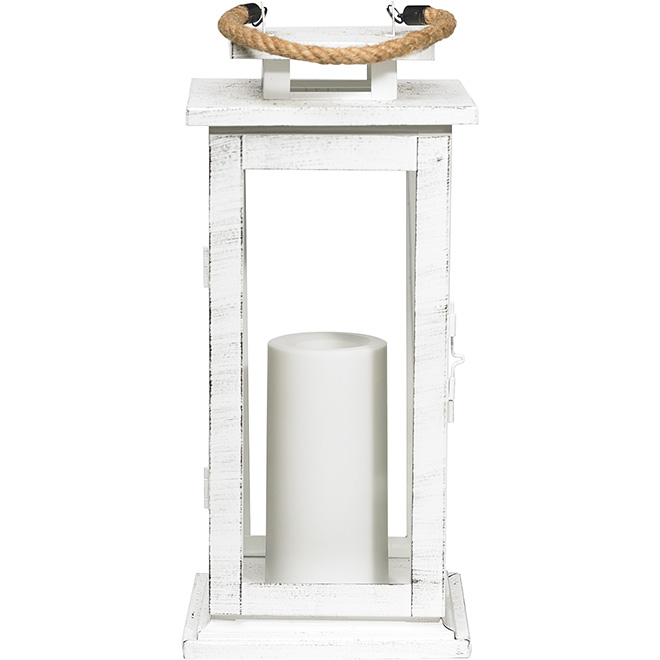 Battery-operated Outdoor Lantern - White