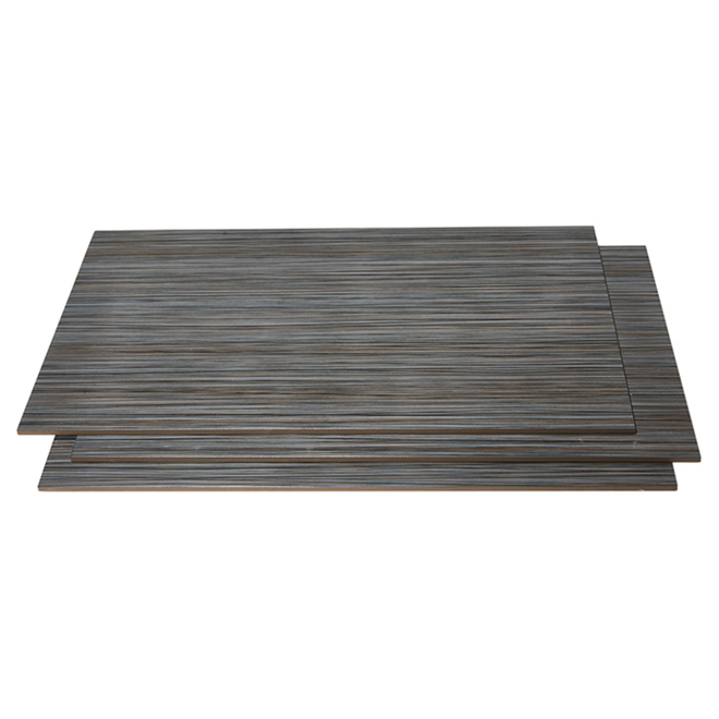 Porcelain tiles 12 x 24 8 box black zen rona for Plancher chauffant rona