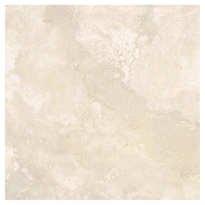"Ceramic Floor Tile - 13.39"" x 13.39"" - Beige"