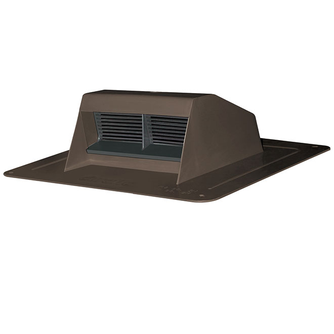 Brown Plastic Roof Vent Exhaust with Flapper