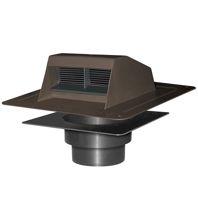 Brown Bathroom Ventilation Plastic Roof Vent Exhaust