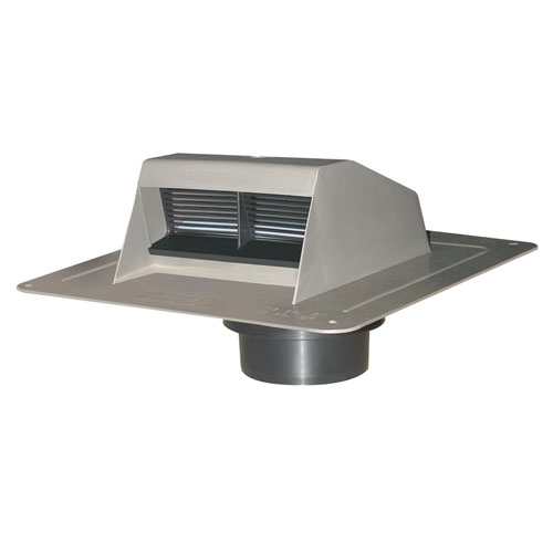 Grey Ventilation Plastic Roof Vent Exhaust with Flapper