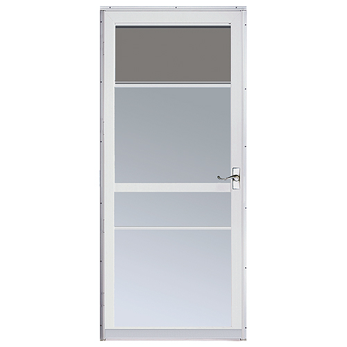 Regal deluxe storm door rona for Storm door with roll up screen
