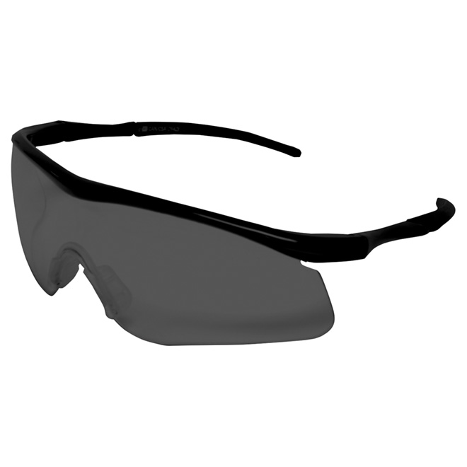 Black Frame Safety Glasses with UV protection - Grey