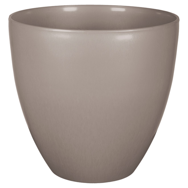 "Planter Pot - ""Egg"" - 15"" - Taupe"