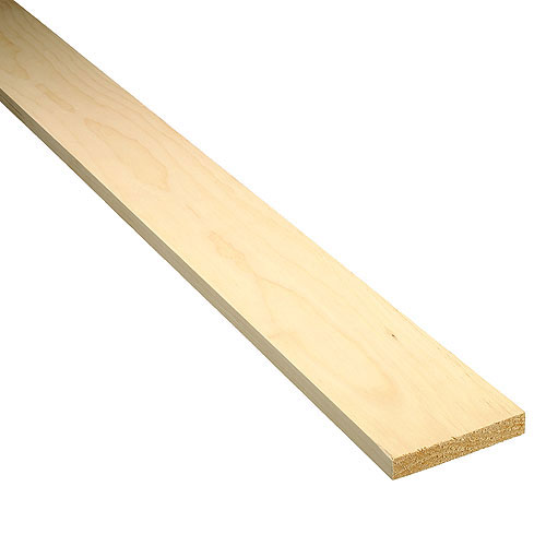 White pine lumber 1 in x 4 in x 6 ft