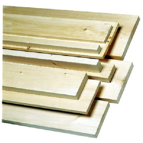White pine lumber 1 in x 5 in x 8 ft