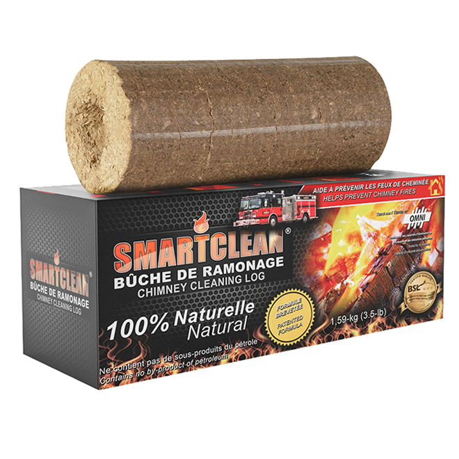 This 100% natural chimney cleaning log helps to prevent and control creosote build-up by simply burning one regularly. 3.5 lb.