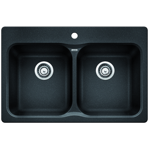 Double Sink Vision - Silgranit® - Anthracite - 31.5 x 20.5""