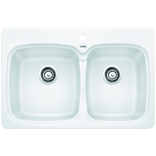 Double Sink Vienna - Silgranit® - White - 31 x 20.5""
