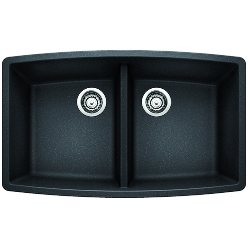 Double Sink Performa - Silgranit® - Anthracite - 33 x 20""