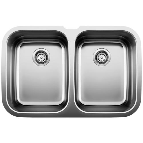 Double Sink Supreme - Stainless Steel - 32 x 21""