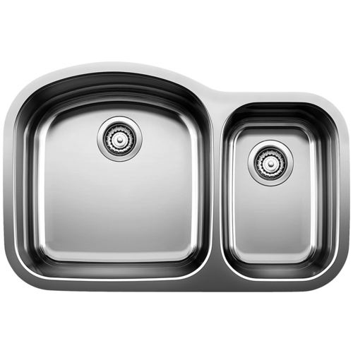 Double Sink Wave - Stainless Steel - 31.5 x 21""