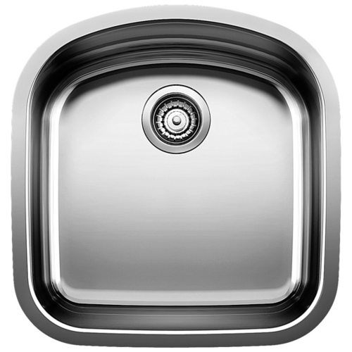 Single Sink Wave - Stainless Steel - 20 x 20.75""