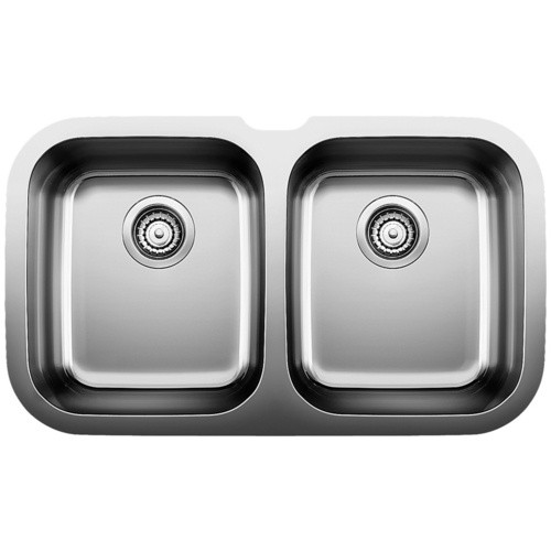 Double Sink Niagara - Stainless Steel - 30.75 x 18""