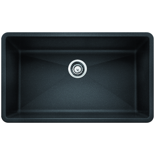 Single Sink Precis - Silgranit® - Anthracite - 32 x 19""