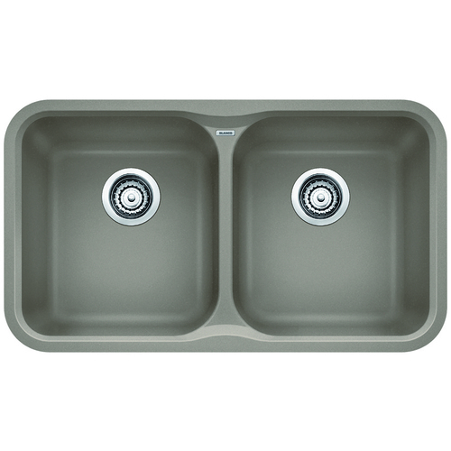 Double Sink Vision - Silgranit® - Truffle - 30.75 x 17.5""