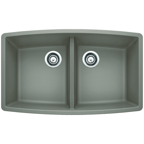 Double Sink Performa - Silgranit® - Truffle - 33 x 20""