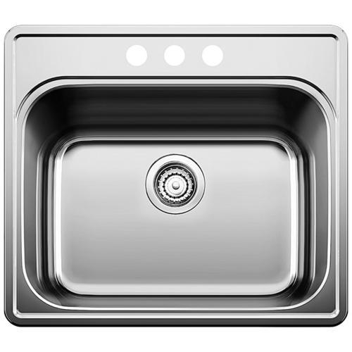 Single Sink Essential - Stainless Steel - 25 x 22""