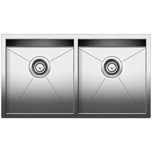 Double Sink Quatrus - Stainless Steel - 32 x 18""