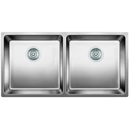 Double Sink Andano - Stainless Steel - 34 x 17.75""