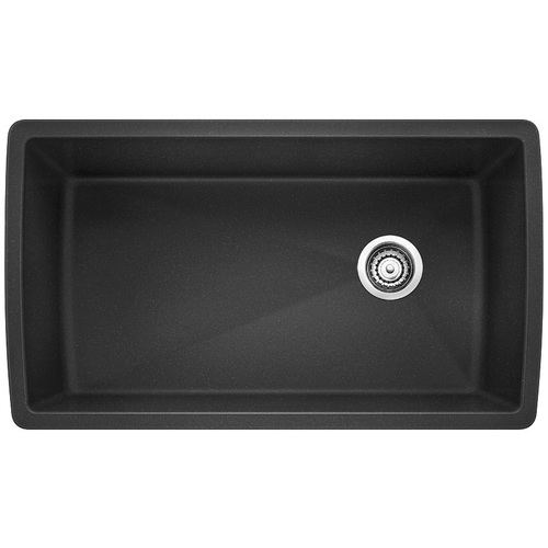 Single Sink Diamond - Silgranit® - Anthracite - 33.5 x 18.5""